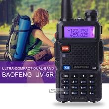 Hot sell Portable Radio Baofeng UV-5R two way radio Walkie Talkie Baofeng 5W vhf uhf dual band 136-174 400-520MHZ baofeng uv 5r