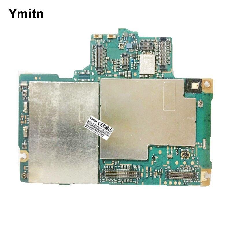 Ymitn Débloqué Mobile Électronique Panneau Carte Mère Carte Mère Circuits Flex Câble Pour Sony Xperia Z3 + Z4 E6553 E6533