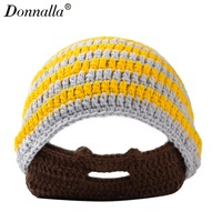 Donnalla Masker Gebreide Winter Hoeden voor Mannen Vrouwen Outdoor Skiën Skullies & Mutsen Acryl Houden Oor Warm Caps met Ballen hoed
