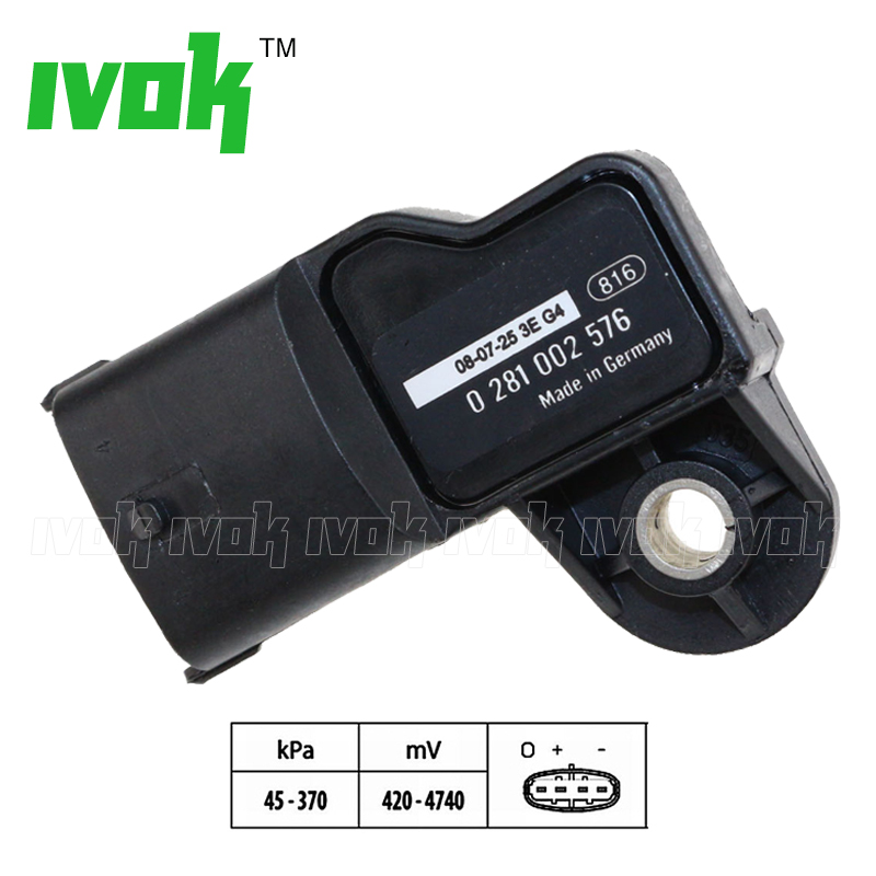 Original Manifold Absolute Boost Pressure MAP Sensor For VOLVO FE FH FL FM KAMAZ DAF CF LF 45 55 65 0281002743 0281002576