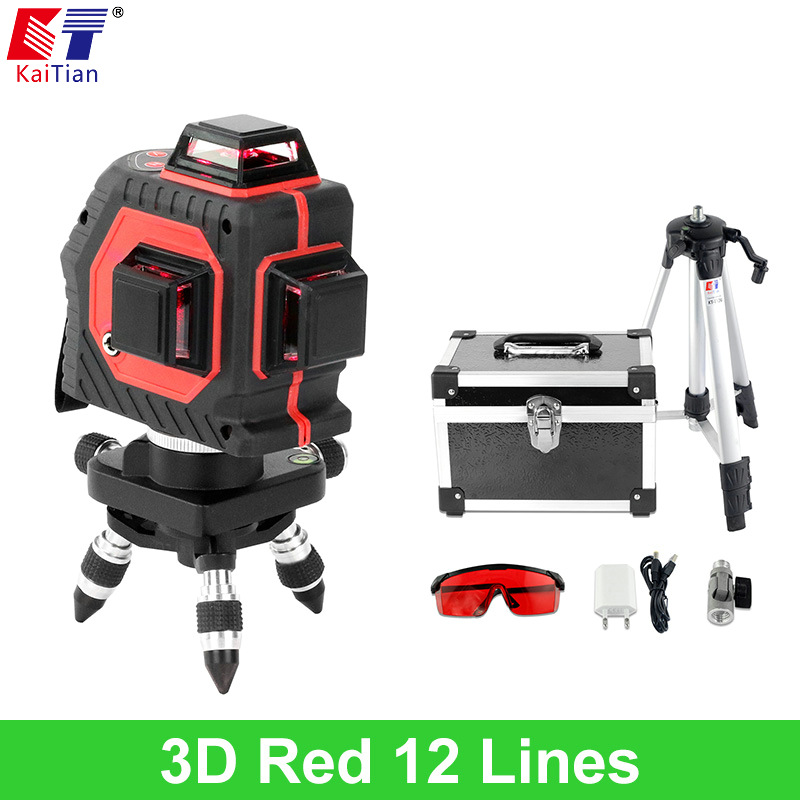 KaiTian 3D font b Laser b font Level Tripod with Tilt Slash Function and 360 Rotary