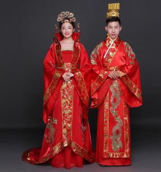 Men-hanfu Robe chinoise traditionnelle rouge Phoenix show kimono