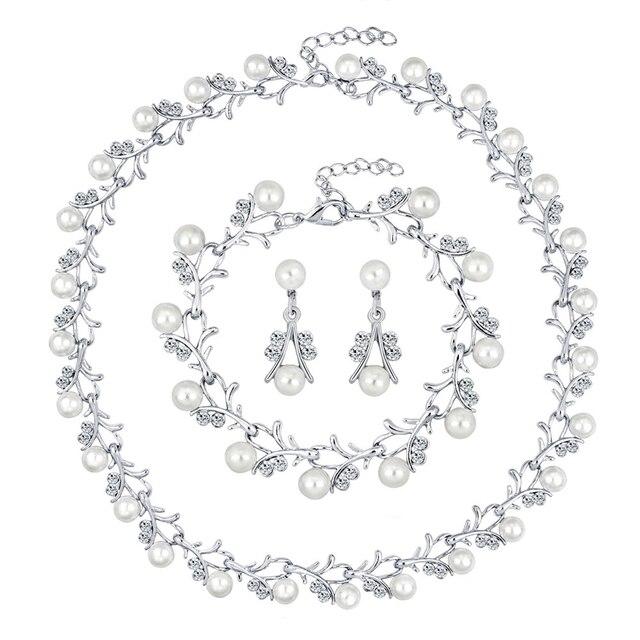 Women Bride Faux Pearl...