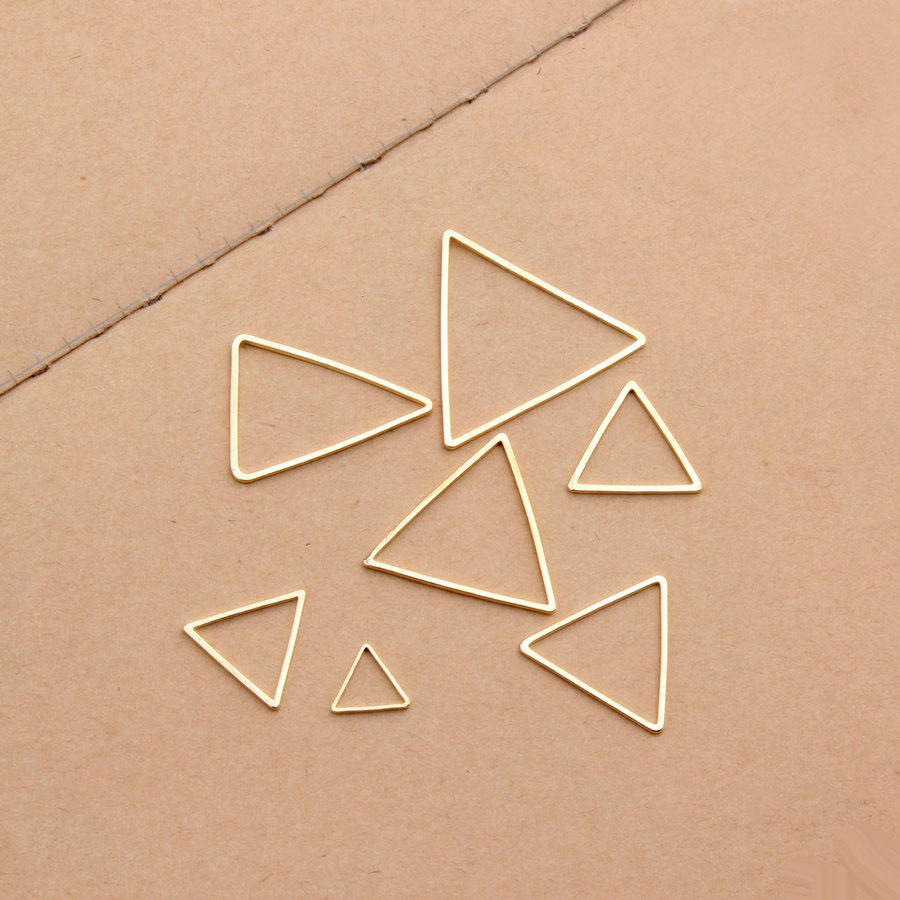 10Pcs/Bag Simple Copper(NOT IRON) Geometric Line Triangle Circle Gold Silver Color DIY Jewelry Connector Making Finding 10Pcs/Bag Simple Copper(NOT IRON) Geometric Line Triangle Circle Gold Silver Color DIY Jewelry Connector Making Finding
