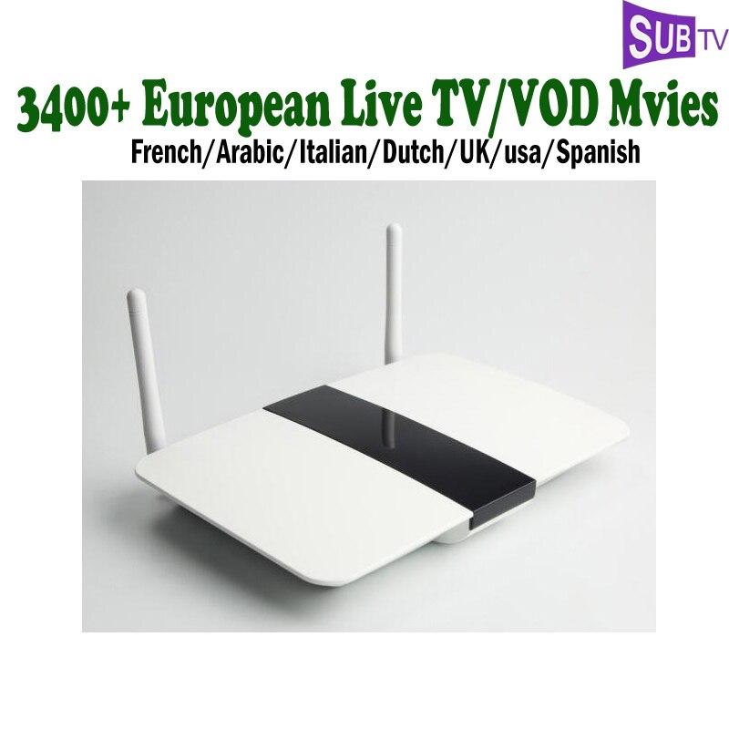 1 Year Subtv French IPTV Channels Dalletektv Arabic TV Box Android With Dutch Italian Spanish USA