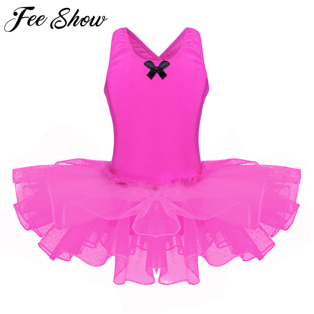 abb8c49ce Kids Girls Sleeveless Flower Petal Shaped Back Ballet Dance ...