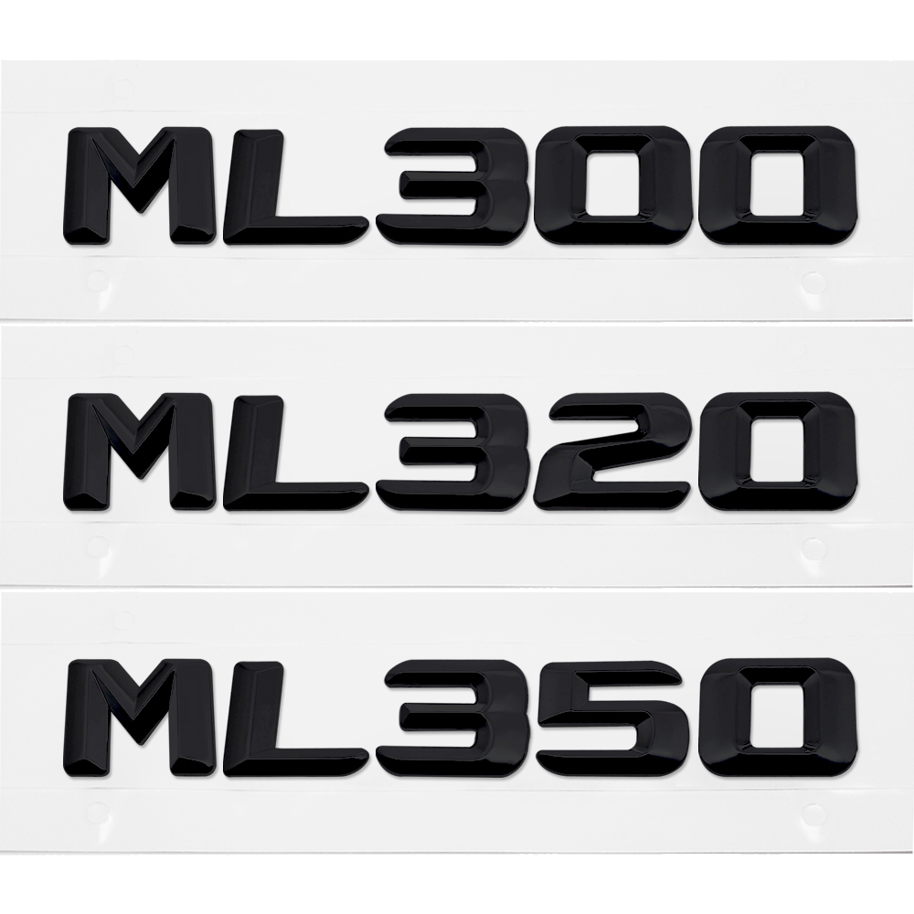 ABS Chrome Silver Logo Emblem Rear Trunk Lettering Decal For Mercedes Benz ML Class ML300 ML320 ML350 W163 W164 W166 W204 W203