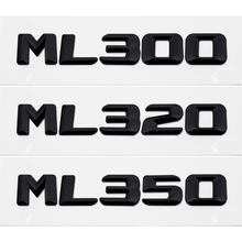 ABS Chrome Silver Logo Emblem Rear Trunk Lettering Decal For Mercedes Benz ML Class ML300 ML320 ML350 W163 W164 W166 W204 W203 free shipping brand new a set of chrome front fog light cover round type for mercedes benz w164 ml class 06 08