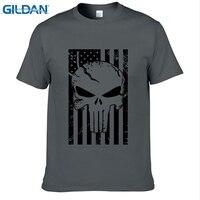 GILDAN Amerikaanse Sniper Chris Kyle Mannen T-shirt Punisher Schedel Navy Seal Team Legend Gedrukt Tops Tees Zomer Casual Tshirt
