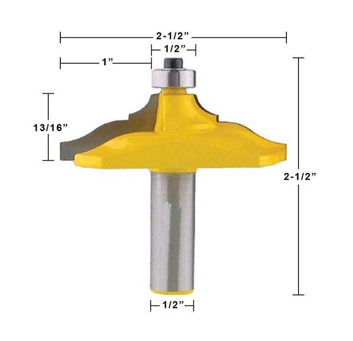 """Conjunto de bits do roteador do corrimão de 2 bits-ogee/grânulo clássico-1/2 """"cortador de tenon do cortador do woodworking da pata para ferramentas do woodworking"""