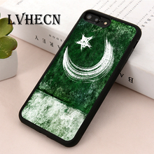 LvheCn TPU Skin phone case cover for iPhone 5 5s SE 6 6s 7 8 plus X XS XR 11 Pro Max Pakistan Pakistani Painted Flag