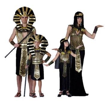 Disfraz de Faraón egipcio exótico, disfraz de Cleopatra para hombres y mujeres, fiesta de Halloween, Princesa, Cosplay, fiesta de disfraces