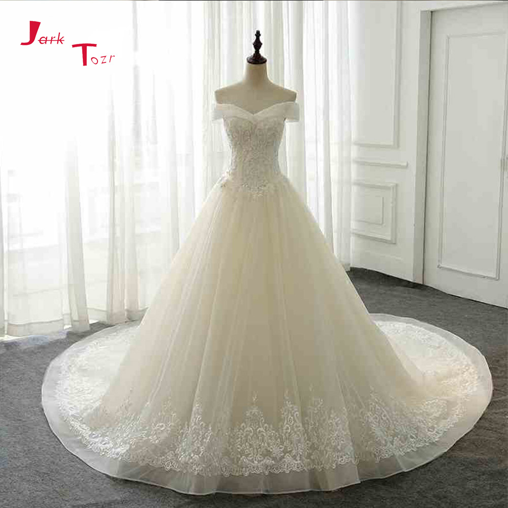 Full Skirt Wedding Gowns: Jark Tozr 2019 New Arrive Bridal Gowns Full Beading