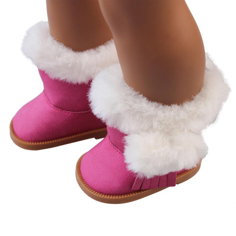 education baby toys Plush Winter Snow Boots For 18 Inch American Girl Dolls Mini Shoes Outdoor Best Gift KidS Toy Developmental