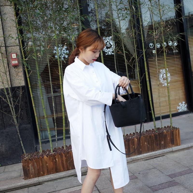 Aliexpress.com : Buy womens white shirts ladies long back high low ...