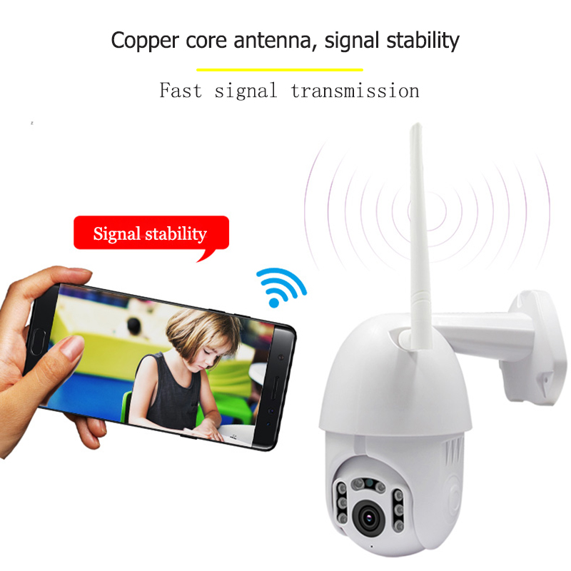 wdskivi Waterproof Outdoor 1080P IP Camera P2P Wireless Wifi Camera PZT Zoon Security Dome CCTV Surveillance
