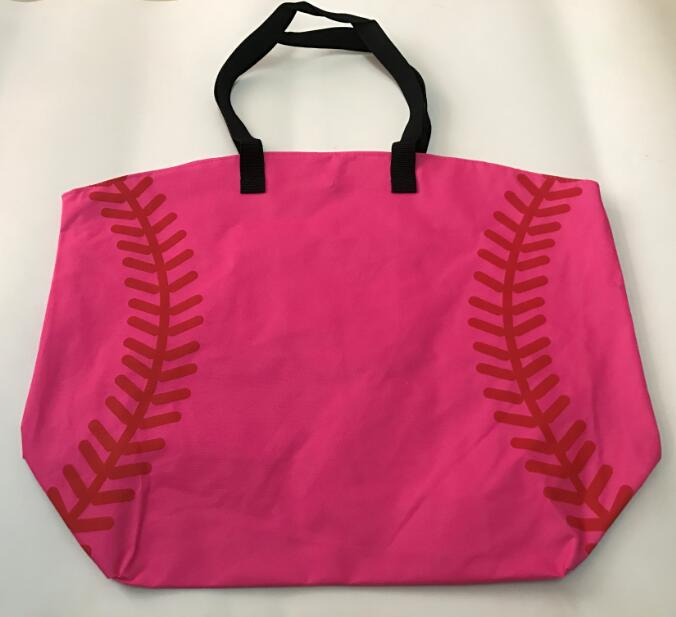 e9725c2874ea US $8.5 |Pink baseball Jewelry Packaging Blanks canvas Sports Bags Baseball  Softball Tote Bag for Children Tote Handbag-in Baseball & Softballs from ...