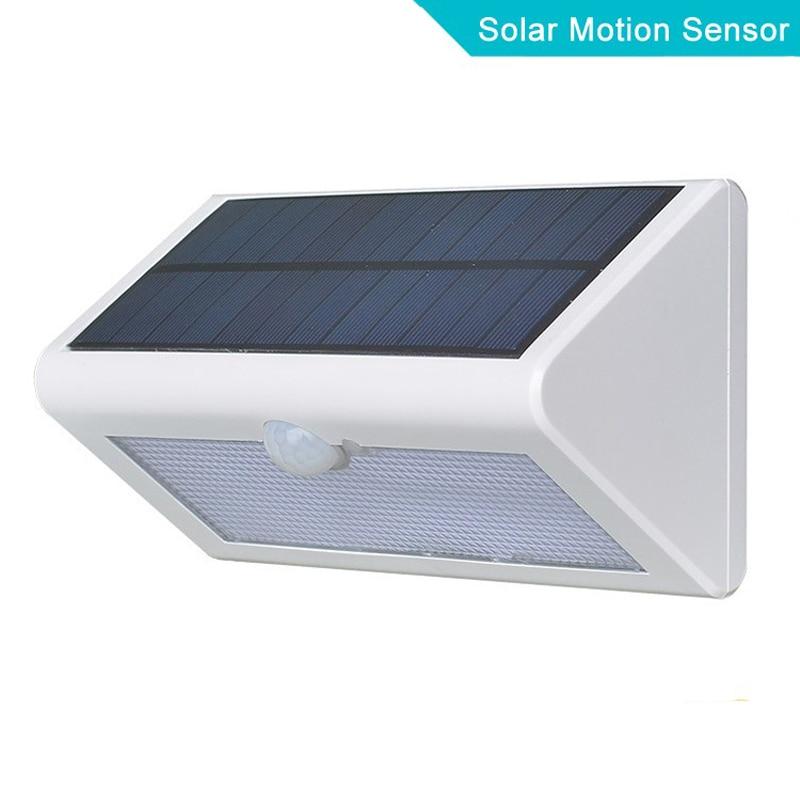 500 LM Waterproof Solar Powered Outdoor Motion Sensor Detector Wall ...