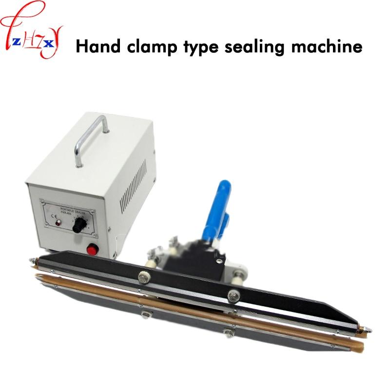 Hand clamp sealing machine portable polyethylene PE film packaging machine 400mm film sealing machine 110/220V 750W