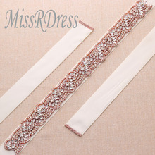 Buy rose gold wedding dress sash and get free shipping on ...