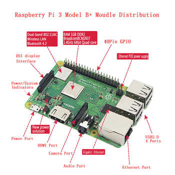 Raspberry Pi 3 Model B Plus kit WiFi&Bluetooth + Power Adapter + Acrylic Case + Cooler + HDMI Cable better than Raspberry Pi 3B