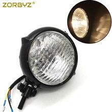 Zorbyz черный Винтаж Бейтс Стиль головной свет лампы H4 фар подходит для Harley bobber chopper на заказ