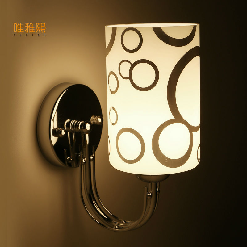 Glass lampshade wall lamp indoor lighting bedside lamps wall lights for home 110V/220V