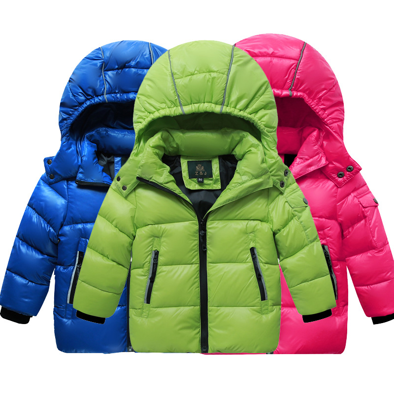 Children's Autumn Winter Jackets For Boys Girls Down Coat Ultra Light Boys Down Jackets Candy Color Baby Hooded Kids Outerwear