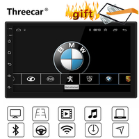 7'' Universal GPS Navigation Bluetooth 2 Din Car Radio Android 8.1 Wifi Car Audio Stereo FM USB MP5 Car player autoradio