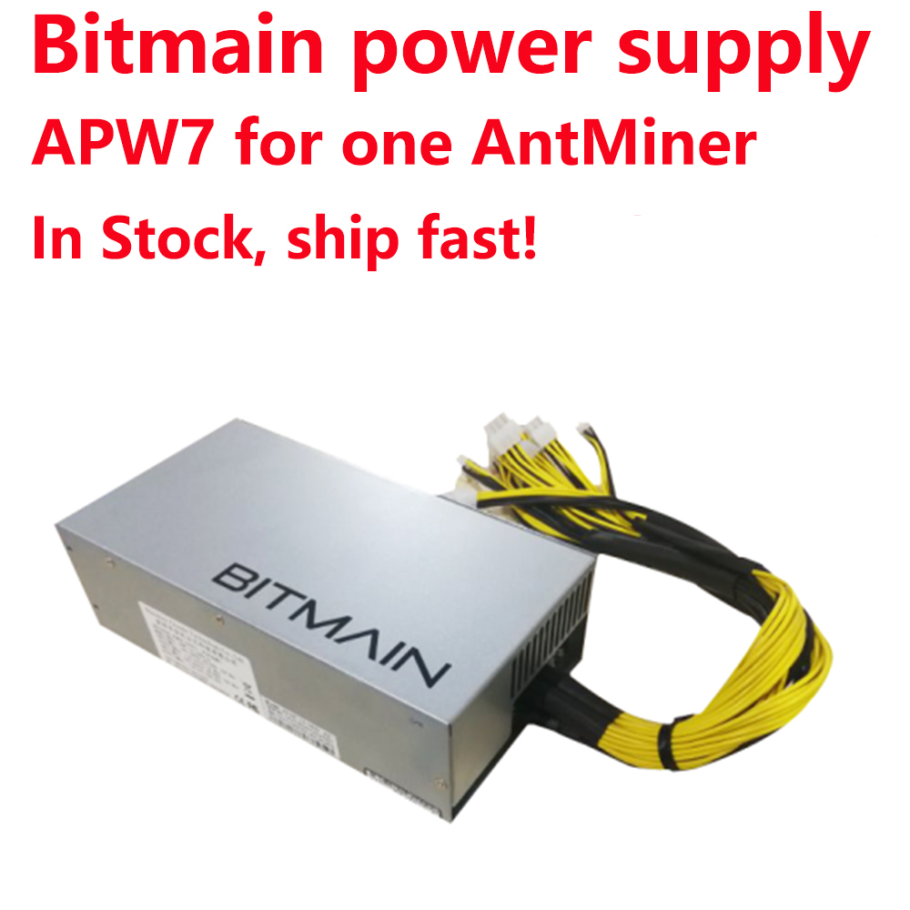 Free Shipping  Original Bitmain 1800w Power Supply, 6PIN*10 Antminer APW7-12-1800,ETH PSU,antminer S9 Z9 L3++ PSU, In Stock