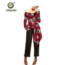 2019 african coats for women AFRIPRIDE bazin riche ankara print pure cotton coats wax batik private custom slash neck S1824019