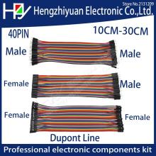 40PIN 10CM 20CM 30CM Dupont Line Male to Male + Female to Male and Female to Female Jumper Dupont Wire Cable For PCB DIY KIT dupont line 10cm 20cm 30cm male to male male to female and female to female jumper wire dupont cable free shipping
