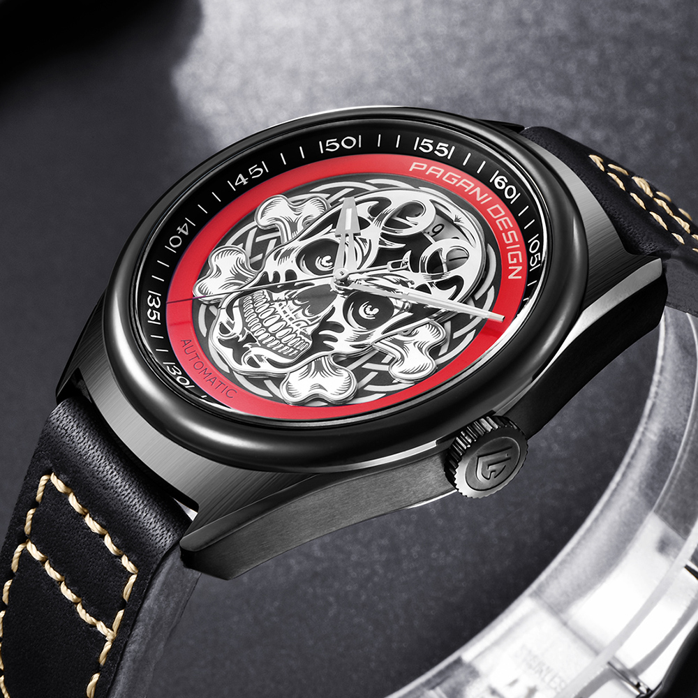 2018 PAGANI DESIGN Top Brand Watches Reloj hombre Men Leather Skeleton Automatic Mechanical Waterproof Sport Watch dropshipping mce luxury brand skeleton square mechanical watches leather gold automatic watch men waterproof casual wristwatch reloj hombre