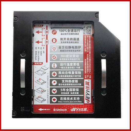 H8 + H502 laptop em liga de magnésio suporte da unidade óptica + Driver USB kit 12.7 mm SATA drive de CD modificação para unidade de disco rígido