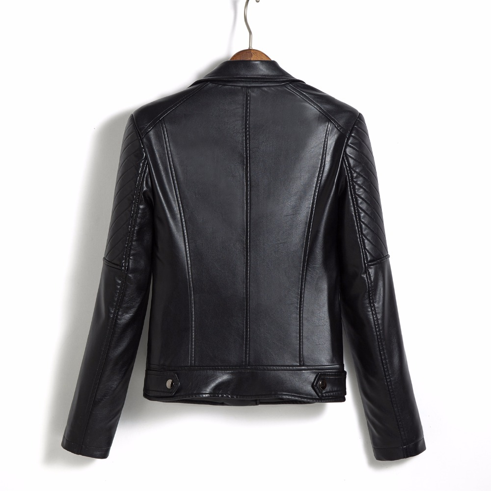 3f14370aa70 M 5XL Leather Jacket Women Fashion Turn Collar MotoZ  Biker Leater Women s  Leather Jacket Coat Female Plus Size Black Red-in Leather   Suede from  Women s ...