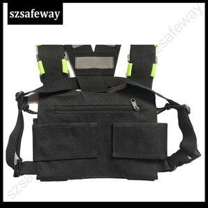 Image 4 - Naylon demeti iki yönlü radyo kılıfı göğüs çanta paketi Walkie Talkie için taşıma çantası kenwood için Baofeng UV 5R UV 82 için motorola