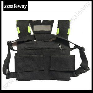 Image 4 - Nylon Harness Two Way Radio Pouch Chest Bag Pack Walkie Talkie Carry Case For kenwood for Baofeng UV 5R UV 82 for Motorola