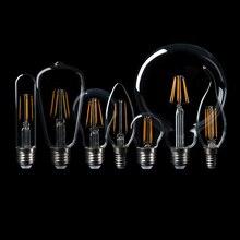 Edison Filament LED Bulb E14 E27 lighting spotlight White Warm white AC220V glass globle 360 degree energy saving lamp