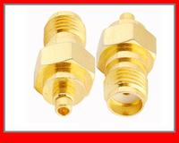 10 pcs RF Coaxial adapter SMA female to MMCX male straight NEW