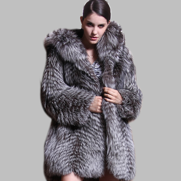 Fox Fur Coats For Womens | Down Coat