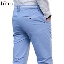 2018 four seasons new men's business casual pants men's cotton slim twill cotton fashion pants men's brand clothing