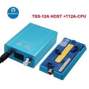 Image 4 - SS T12Aสถานีบัดกรีเมนบอร์ดLayered Face ID FixสำหรับiPhone 6 7 8 X XS 11Pro Max CPU NANDความร้อนdisassemblyแพลตฟอร์ม