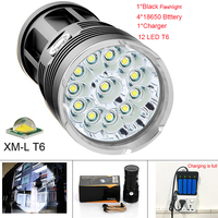 42000 Lumens Flashlight 14 XML T6 LED Outdoor High Lighting Waterproof Flash Light For Fishing With