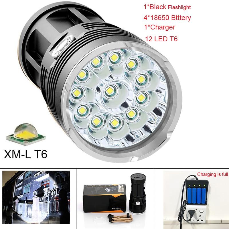 42000 lumens Flashlight 12 CREE XML T6 L