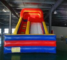 Hot sale Blue red PVC slide inflatable slide good quality land slide