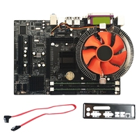 HOT G41 Desktop Motherboard For Intel Cpu Set With Quad Core 2.66G Cpu E5430 + 4G Memory + Fan Atx Computer Mainboard Assemble Motherboards    -