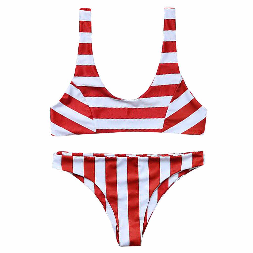 Strój kąpielowy kobiety dwa kawałki wyściełana bikini 2019 Sport dziewczyny strój kąpielowy Maillot De Bain Femme Sport lato strój kąpielowy kobiety