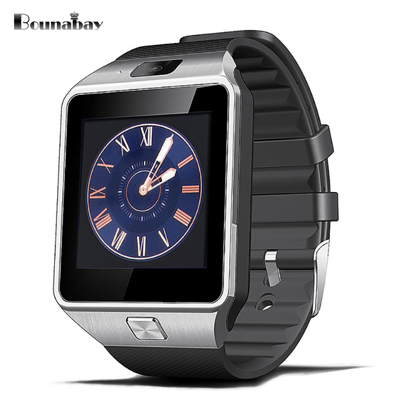 BOUNABAY Analog Display Bluetooth4.0 Smart man watch for man's apple android phone Camera men Clock Touch Screen men's Clocks