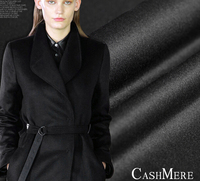 Black Double Sided Cashmere Wool Cashmere Fabrics Jacquard Silk Fabric Scarf Skirt Scarf Dressmaking Materials Yards