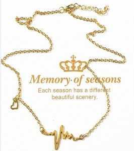 Nova moda jóias imitação de titânio aço bijoux femme ouro prata ecg coração colar clavícula gargantilha pingente colar